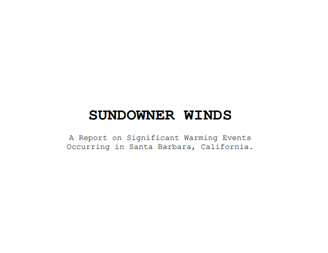 Sundowner winds