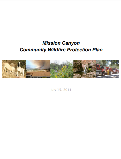 Mission Canyon  Community Wildfire Protection Plan
