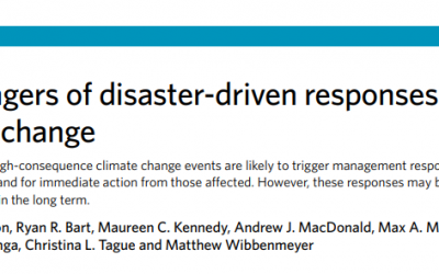 The dangers of disaster-driven responses to climate change