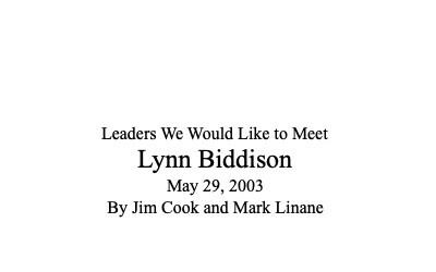 Lynn Biddison