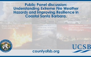 Understanding Extreme Fire Weather Hazards and Improving Resilience in Coastal Santa Barbara.