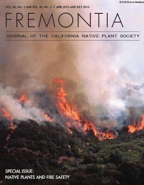 Journal of the California Native Plant Society: Native Plants and Fire Safety