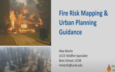 Fire Risk Mapping and Urban Planning Guidance Inform Where and How We Build in California