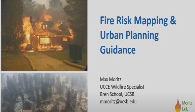 Featured Presentation: Fire Risk Mapping and Urban Planning Guidance Inform Where and How We Build in California